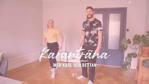 Övningsmaterial - Karanträna med Karl och Bettan, nummer 1